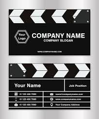 simple clapperboard theme business name card template for movie