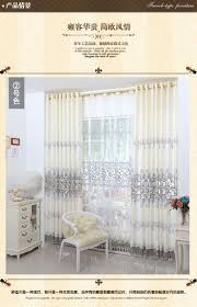 Home Decor Europe New Europe Embroidered Tulle Window Curtains For Living Room