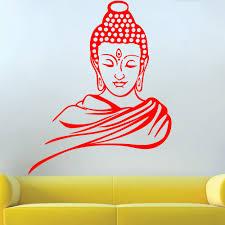 choose color guatum buddha religious easy peel u0026 stick wall decal vinyl