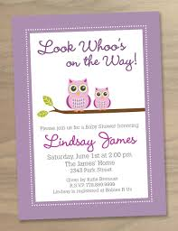 baby shower invitations for a free pink owl baby shower
