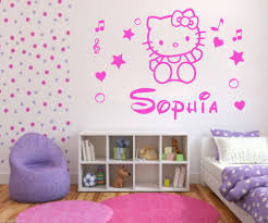 personalized hello kitty wall art wall art stickers decal hot sell wholesale personalised hello kitty name decal wall sticker wall art girl bedroom decor free