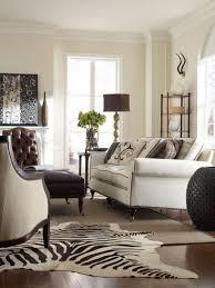 Zebra Side Table Awesome Corner Living Room Design Showcasing White Sectional Sofa