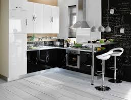cuisine blanche et noir cuisine noir blanc top cuisine design noir with cuisine noir