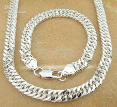 cheap silver necklace chains images 925 silver christmas gift 925 silver set men bracelets 925 silver jpg