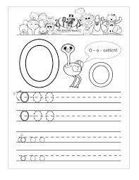 letter o worksheet for kids loving printable