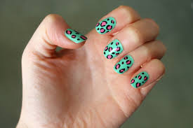 Nail Designs Cheetah Cheetah Print With A Colourful A Photo Gallery Print