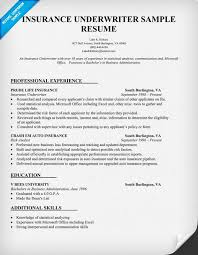 Sample Resume For Office Work by Cover Letter Insurance Underwriter Trainee