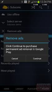 free in app purchases android subsonic streamer updated to remove ads no more in app