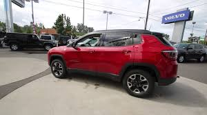 red jeep compass 2017 jeep compass trailhawk redline ht611127 mt vernon