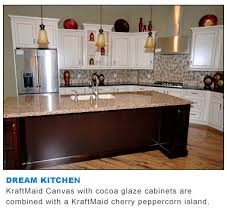 Kraftmaid Peppercorn Cabinets Kraftmaid Canvas Cabinets Desk Knee Drawer As Part Of A Vanity