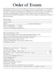 Wedding Reception Program Template Sample Wedding Reception Program Ceremony Pinterest Wedding