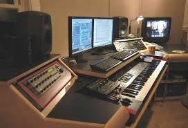 music studio computer desk corner recording studio computer desk
