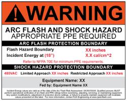 nfpa 70e arc flash table nfpa 70e arc flash hazard warning labels rjs engineering nfpa 70e