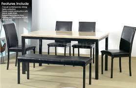 Faux Marble Top Dining Table Black Metal U0026 Faux Marble Top Dining Table W Optional Items
