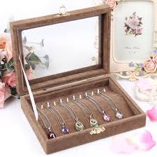 necklace earring display box images Beautiful and fashion jewelry display cases storage for necklace jpg