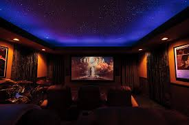 Home Theater Ceiling Lighting Sky Ceiling Looks Like Cove Lighting And Glow Paint Could