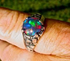 matrix opal ring mens opal ring vivid opal ring genuine australian opal
