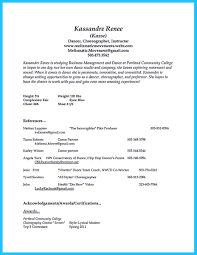 Resume Examples Zoo by The Best And Impressive Dance Resume Examples Collections