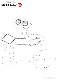 dot coloring pages dot to dot picture with wall e coloring pages hellokids com