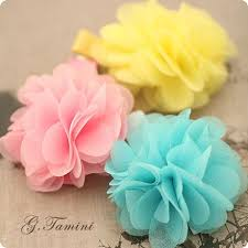 children s hair accessories children s soft chiffon fabric flower summer hair for