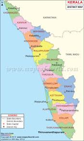 India Time Zone Map by Kerala Map Districts In Kerala