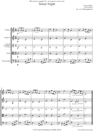 silent night string quartet sheet music by christmas violin