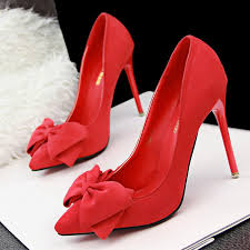 2016 fashion suede bow u0026 red bottom pumps crazy for shoes