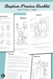 baptism preview booklet the mormon home