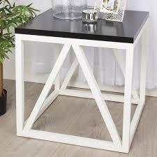 wood cube end table gracie oaks dunstan wood cube end table reviews wayfair