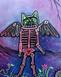phantasm halloween folk art fantasy painting