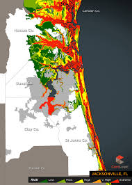 Map Of Jacksonville Florida by 2015 Storm Surge Maps