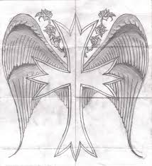 cross wings and roses by alucardk09 on deviantart