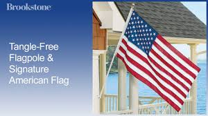 How To Display American Flag On Wall Tangle Free Flagpole U0026 Signature American Flag Youtube