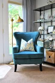 Living Room Accent Chair Home Living Room With Blue Accent Chair With Arms Vintage Style