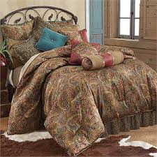 Leopard Bed Set San Angelo Comforter Set With Leopard Bed Skirt