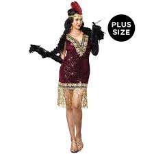 Size Women Halloween Costumes Size Sophisticated Lady Flapper Costume Women