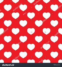 white big hearts seamless pattern on stock vector 300791582