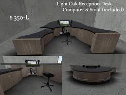 Oak Reception Desk Second Life Marketplace Light Oak Reception Desk