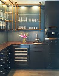 Open Kitchen Shelving Ideas by Open Concept Kitchen Shelves Brass Pipe Like Shelves Make This A