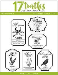 Free Printable Halloween Books by 17turtles Halloween Apothecary Bottles Halloween Printable Included