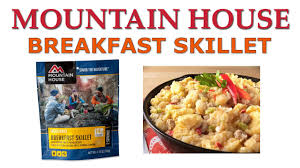 mountain house breakfast skillet review youtube