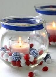 red white and blue centerpiece ideas