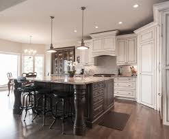 vancouver distressed white kitchen traditional with island