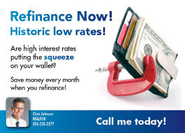 refinance your mortgage postcards sendsations