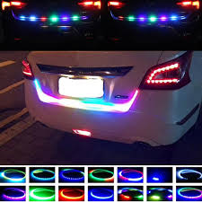 Automotive Led Light Strips Auto Car Tailgate Turning Signal Light Bar Rgb Led Strip Trunk