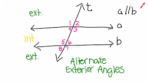Example Of Alternate Interior Angles Alternate Exterior Angles Youtube