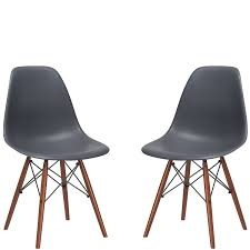 Buy Dining Chairs Online India Amazon Com Poly And Bark Eames Style Molded Plastic Dowel Leg