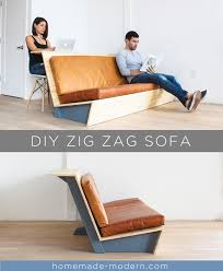Homemade Modern by This Diy Zig Zag Sofa Was Designed Specifically For Lofts And Has