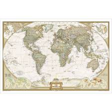 wall maps world executive wall map enlarged and laminated national