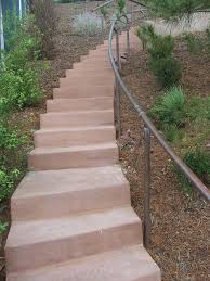 the 2 minute gardener photo concrete stairs with copper hand